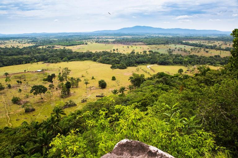 Landscape of Chiribiquete National Park, around San Jose del Guaviare, Colombia