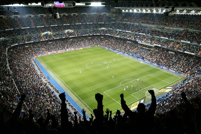 The Estadio Santiago Bernabéu holds over 80,000 spectators