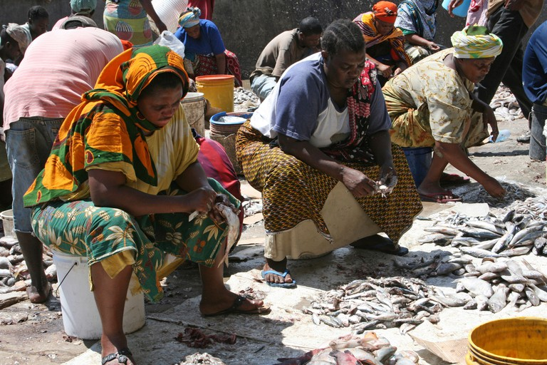 Buy your lunch at the Kivukoni Fish Market