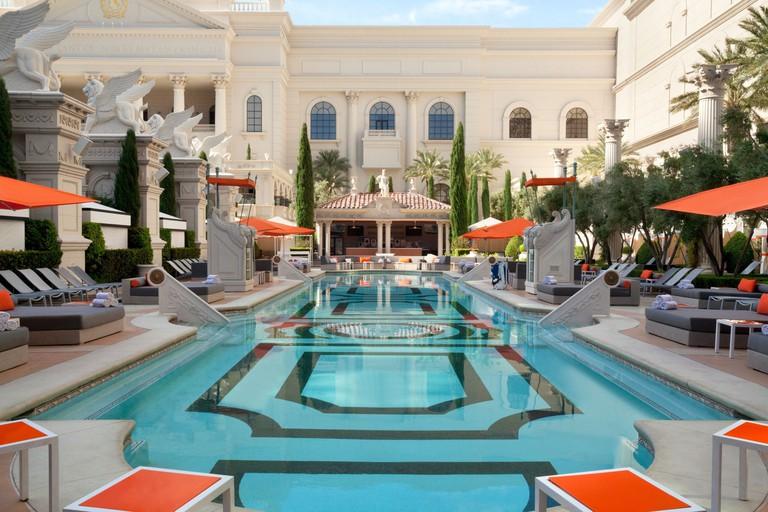 Venus Pool Lounge at Caesars Palace