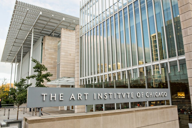 The Art Institute of Chicago Modern Wing on Monroe Street in Chicago USA