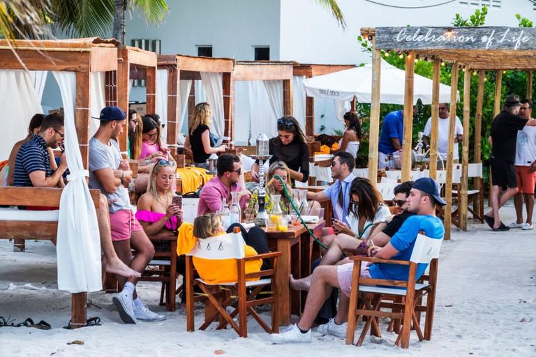 Florida, Miami Beach, Nikki Beach, luxury beach club