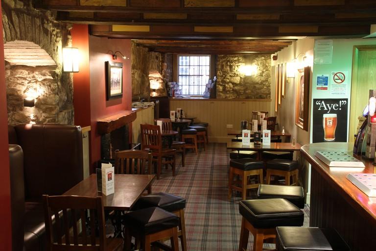 Interior of The Jolly Judge pub