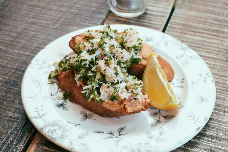 Beautifully presented small plates make up The Seafood Café's menu