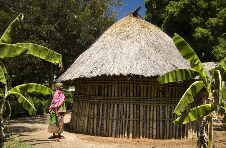 The Village Museum is a collection of authentically constructed dwellings