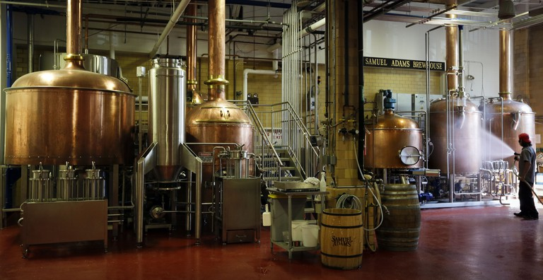 You can take a tour of the Samuel Adams Boston Brewery