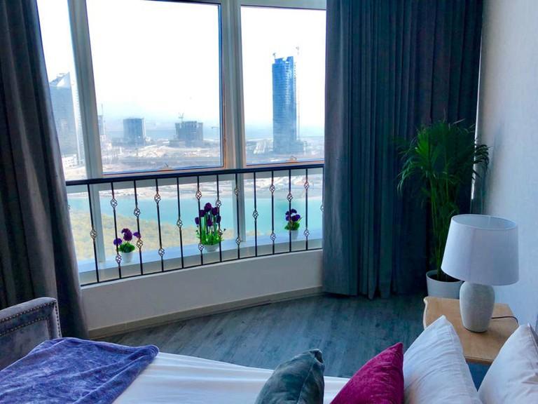 Modern apartment with mangrove views