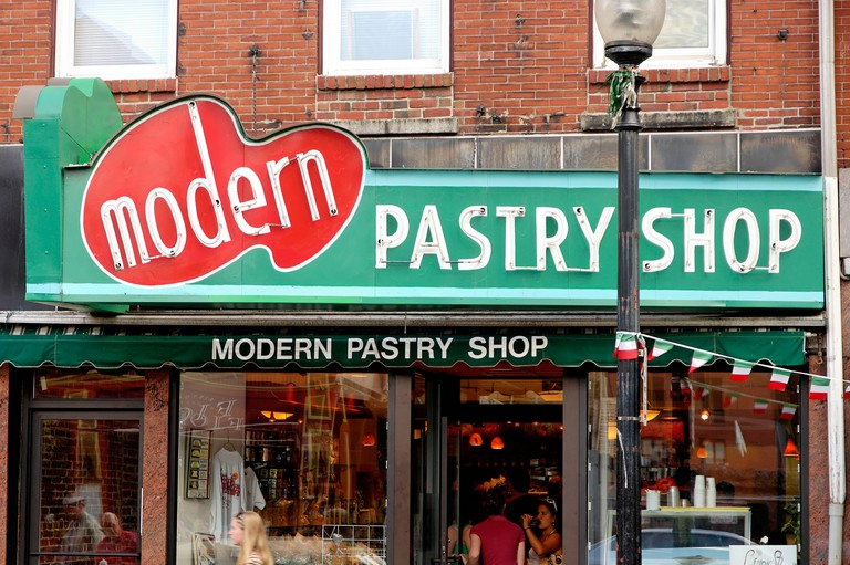 Modern's sign was modern in its day