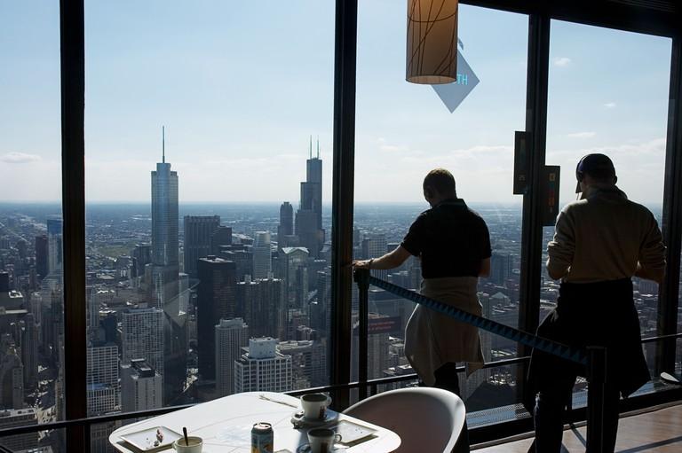 Observation deck, John Hancock Building, Chicago.