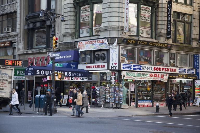 DCorner of 32nd St. & 5th Avenue at the corner of Korean Way (32nd St) in Manhattan.