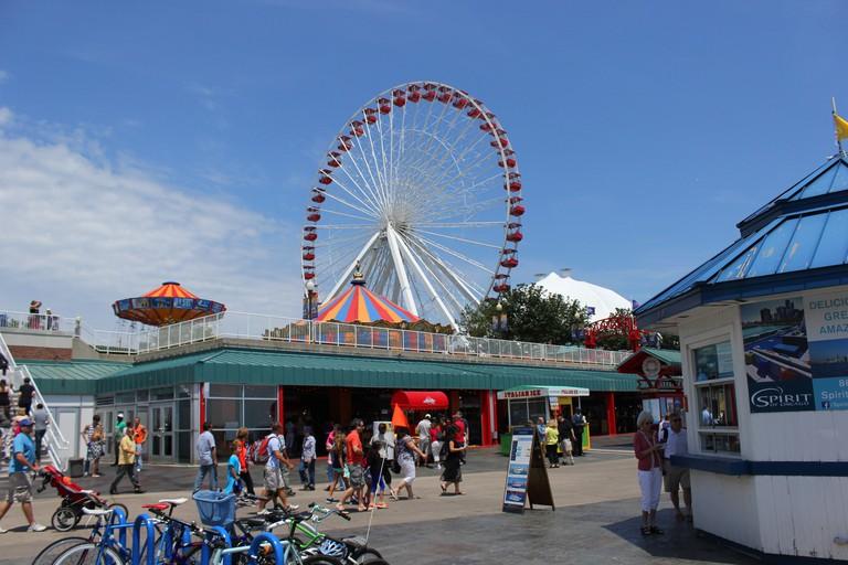 Ferris wheel at Navy Pier, Chicago, IL