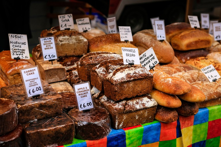 Shop for bread and cake at Temple Bar Food Market