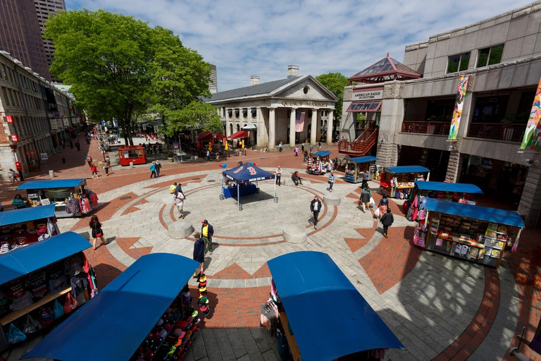 Quincy Market Faneuil Hall Marketplace, Boston.