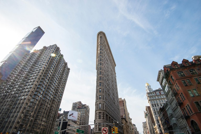 The iconic Flatiron Building in Manhattan, New York City USA