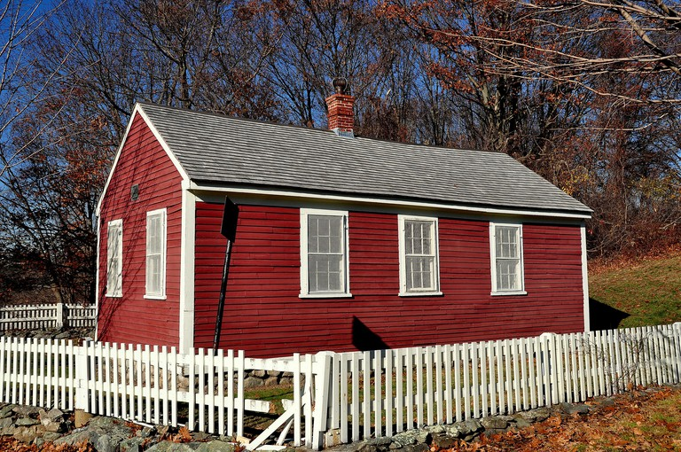 Brookline, Massachusetts:  One room Putterham Schoolhouse at the Larz Anderson Estate in use from 1768 to 1920