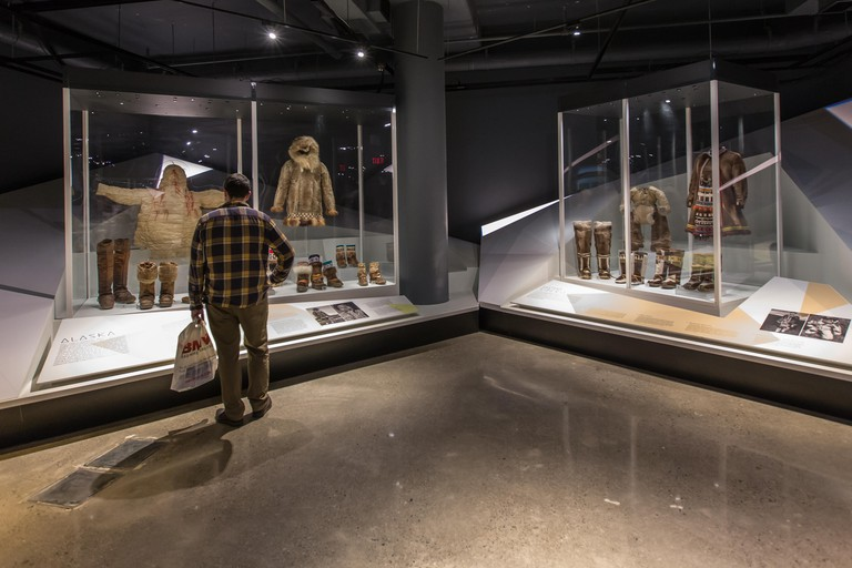 toronto bata shoe museum visitor