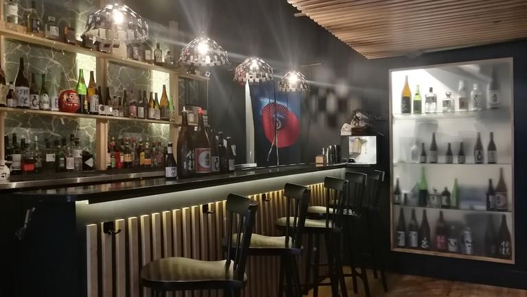Interior of Koi Koi Saké Bar