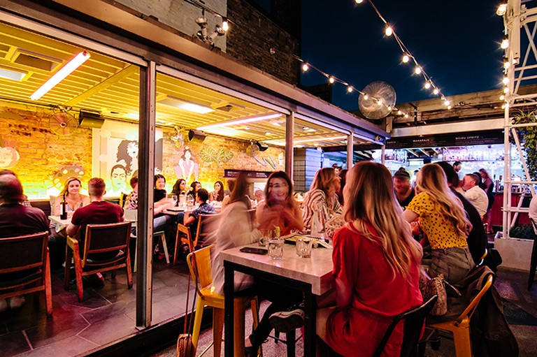The Drake Sky Yard is a hotel rooftop bar whose name has nothing to do with the rapper