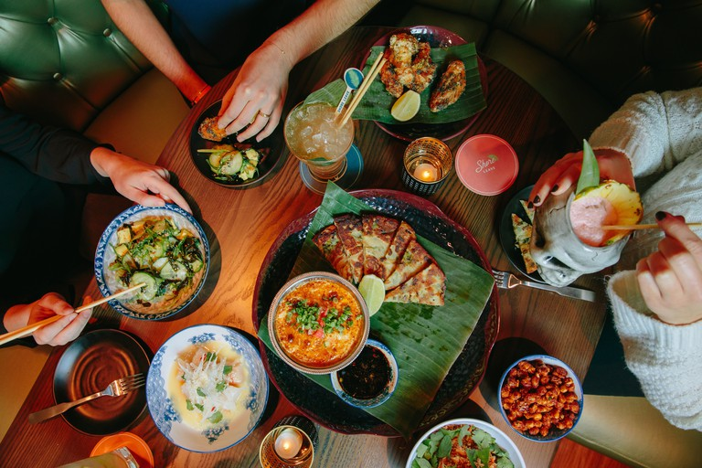 Shore Leave specializes in Asian cuisine