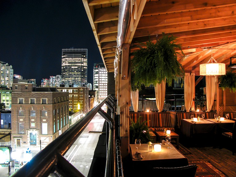 Candle lit tables, comfy sofa seats and stunning views make The Fifth a romantic date spot