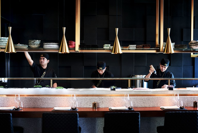 Interior of 99 Sushi