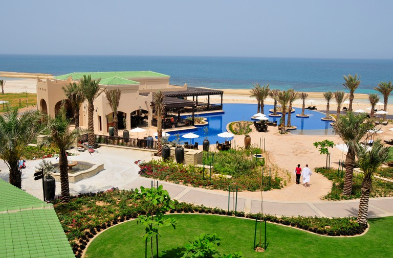 Swimming pool at the Desert Islands Resort and Spa, Sir Bani Yas Island