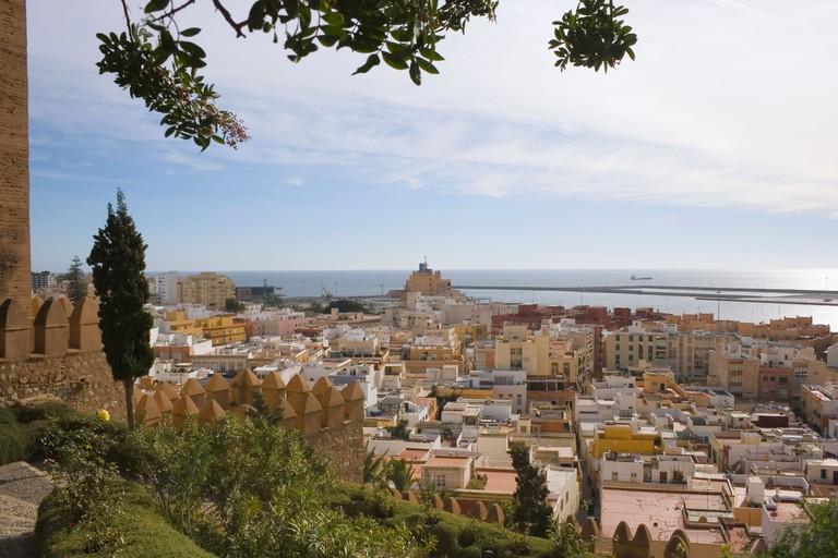 View over Almeria from The Alcazaba, Almeria