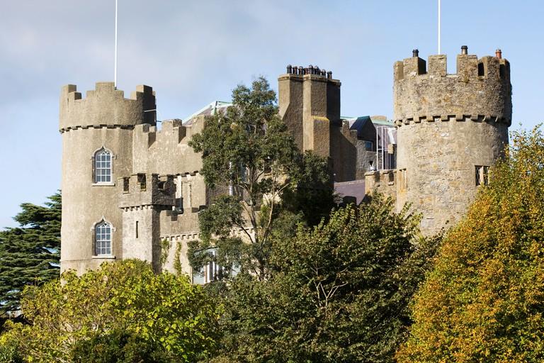 Malahide Castle in Dublin, Ireland.
