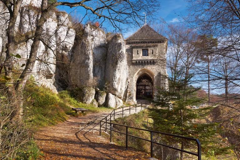 Ojcow - ruins of castle, National Park near Cracow, Poland