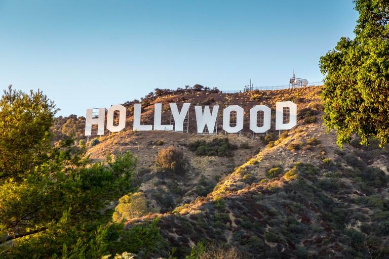 HOLLYWOOD CALIFORNIA - SEPTEMBER 24: The world famous landmark Hollywood Sign on September 24, 2012 in Los Angeles, California.