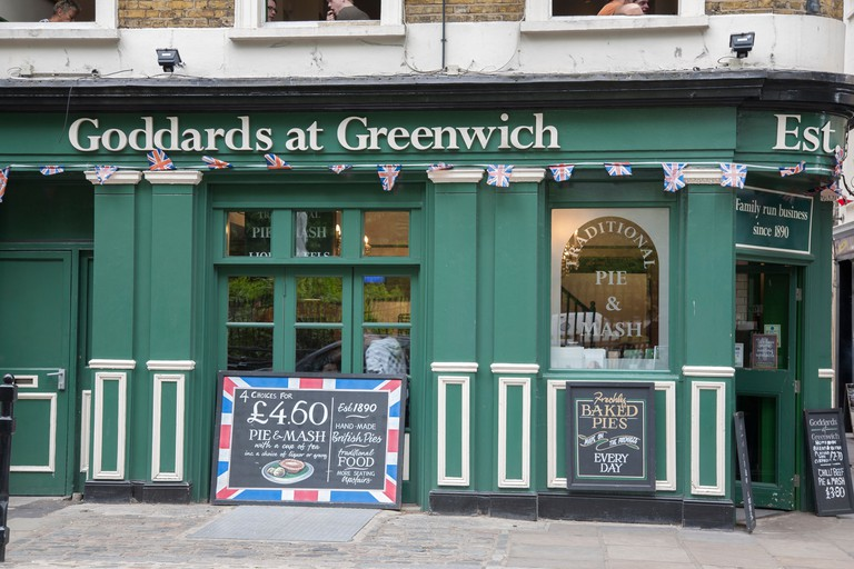 Head to Goddards at Greenwich for pie and mash
