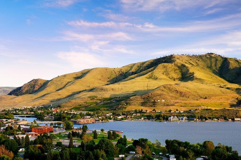 The town of Chelan on Lake Chelan in Washington State