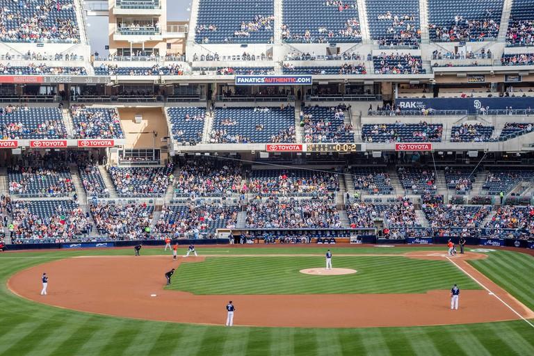 Baseball game in San Diego, California