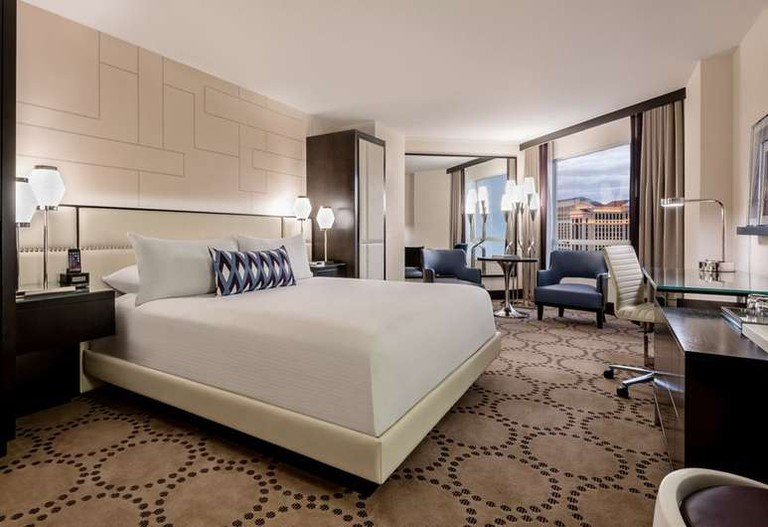 Guest room at Harrah's Las Vegas Hotel & Casino