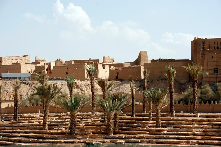 Ancient city of Dir'iya, near RIyadh in Saudi Arabia. The ancient capital is one of the few UNESCO World Heritage sites in the country.