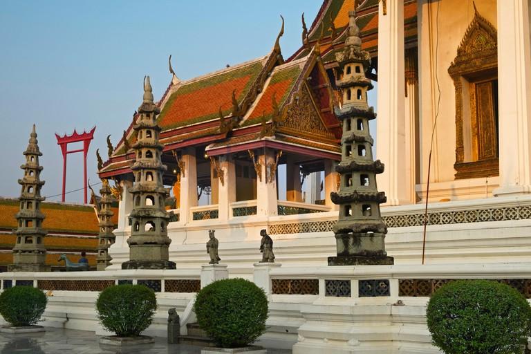 Wat Suthat and Giant Swing Bangkok Thailand