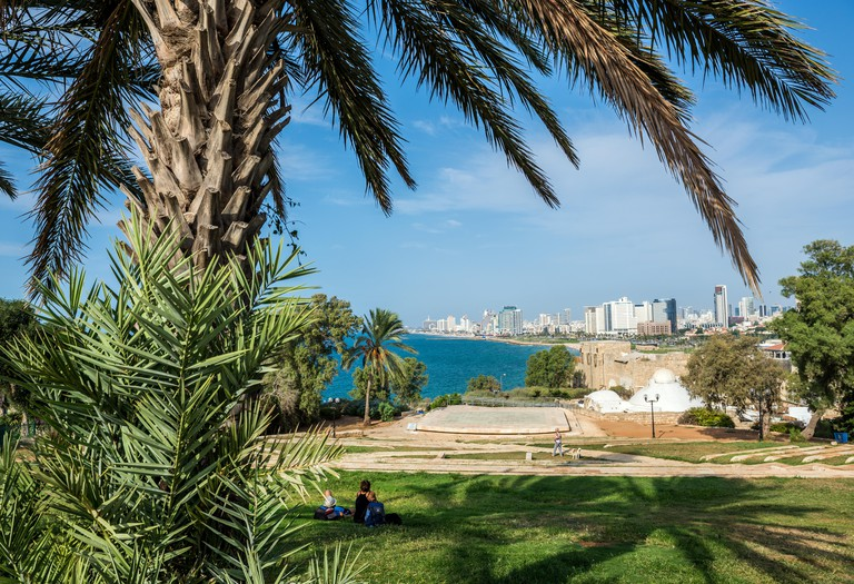 View from Abrasha park in Jaffa, Tel Aviv.