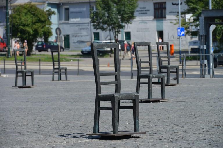 Mahnmal, Platz der Ghettohelden, Krakau, Polen, Memorial, place of the ghetto heroes, Cracow, Poland