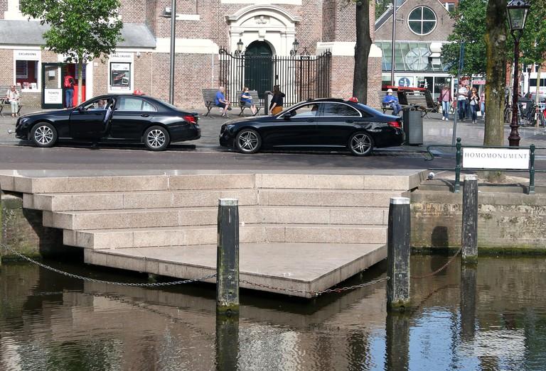 Homomonument memorial, Amsterdam, Netherlands.