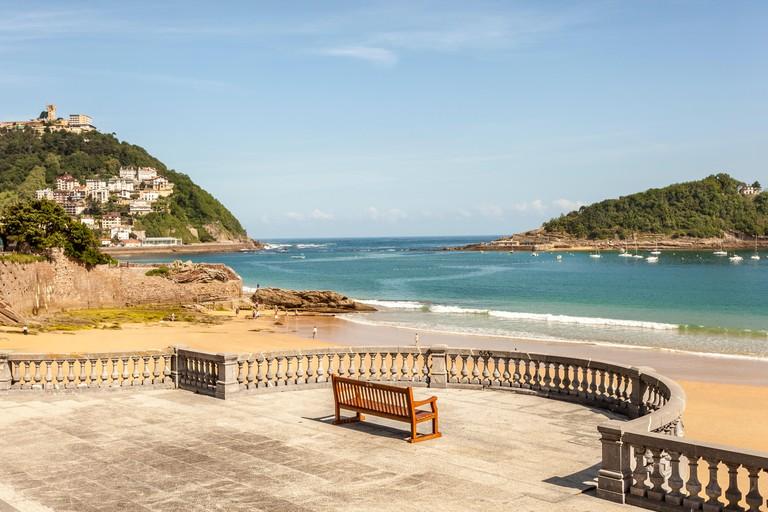 Promenade at the La Concha beach in San Sebastian