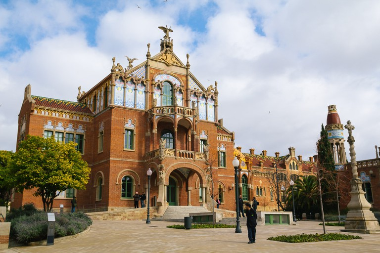 The Sant Pau Hospital, along with Palau de la Música Catalana, is a UNESCO World Heritage site