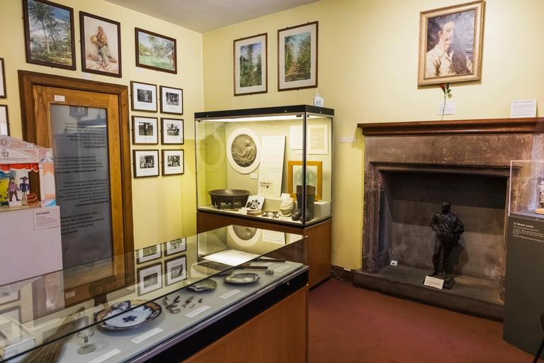 Great Britain, Scotland, Edinburgh, The Writers' Museum, Robert Louis Stevenson Room, Exhibit of Robert Louis Stevenson Memorabilia