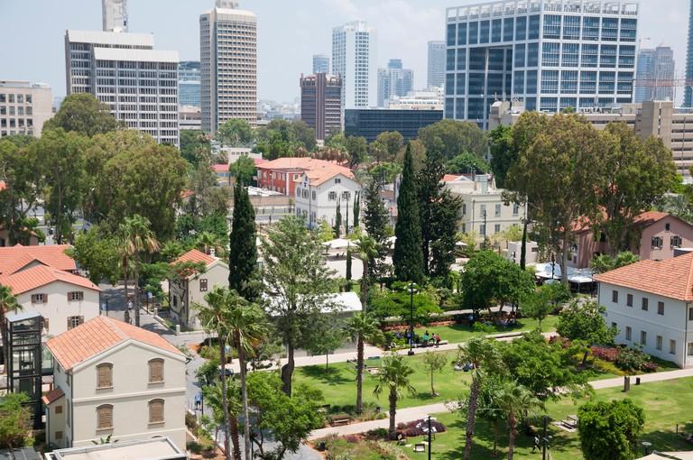 Sarona gardens and neighbourhood in Tel-Aviv, Israel