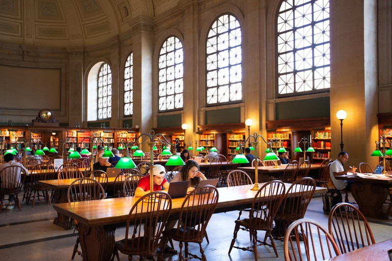Boston Public Library, Back Bay, Boston, MA