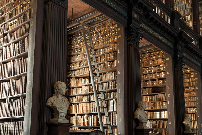 The Old Library at Trinity College Dublin houses the Book of Kells