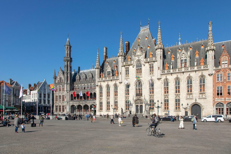 Belgium, Western Flanders, Bruges, historical centre listed as World Heritage by UNESCO, Grand Place, Provincial Palace or Provincial Palace and historium museum