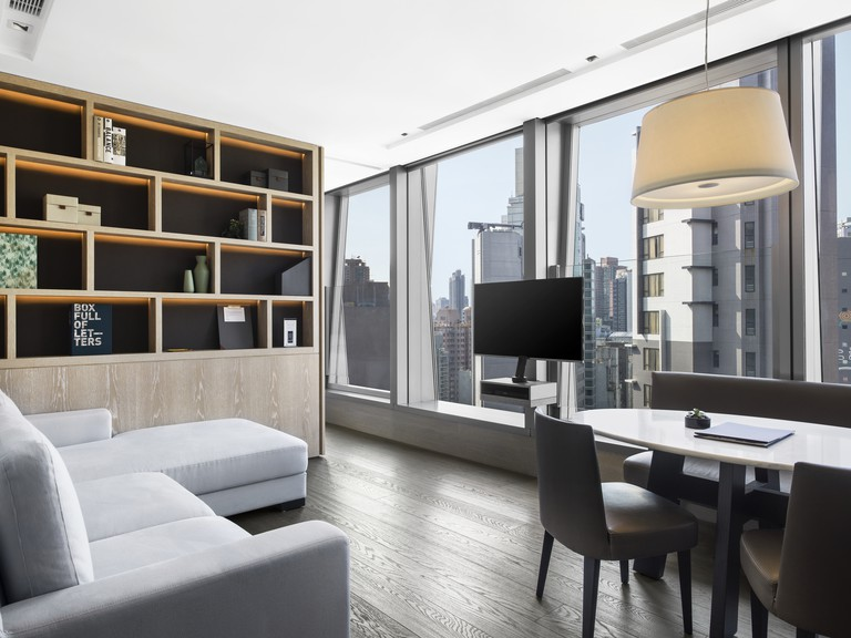 Each room is spread over an entire floor at this all-suite hotel, One96 Hotel, Hong Kong