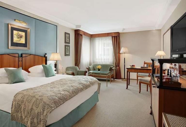 Guest room at Kempinski Hotel Corvinus