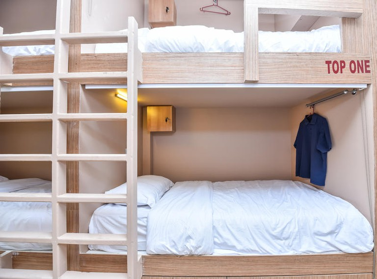 There are three six-person dorm rooms at 7 Capsules