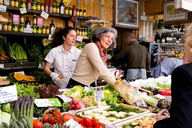 Rialto market, Venice, Veneto, Italy